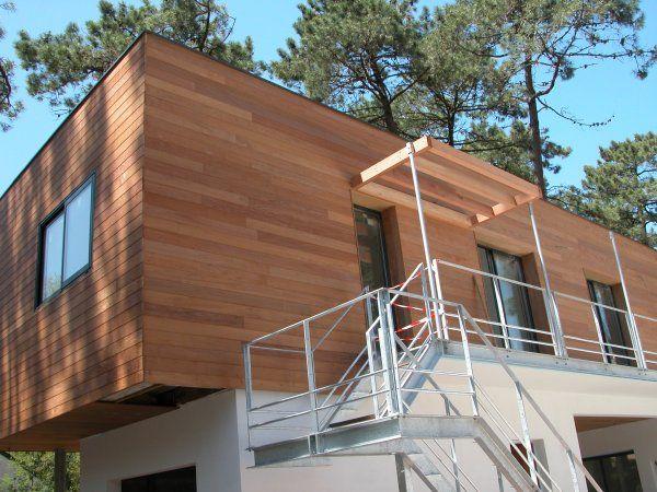 Bardage AMÉNAGEMENT EXTÉRIEUR BATI MAT2B construction et aménagement en CORSE # Bardage Bois Exotique